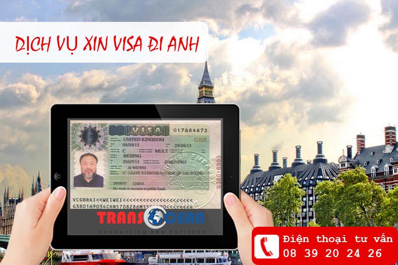 Dịch vụ xin visa đi Anh HCM
