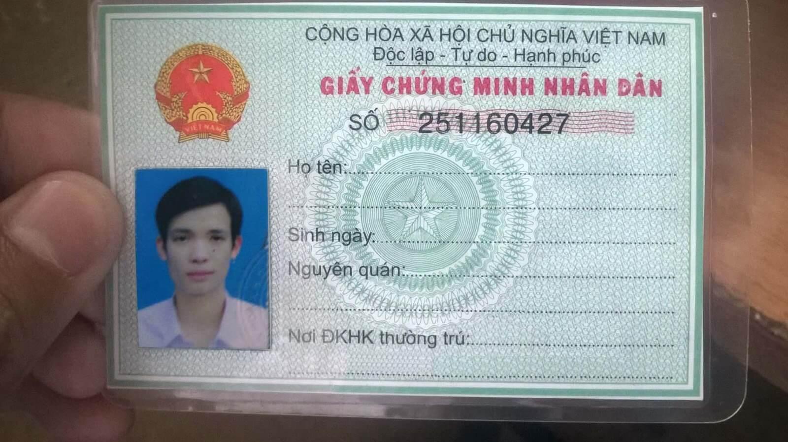 CMND là một loại giấy tờ tùy thân không thể thiếu của mọi công dân Việt Nam