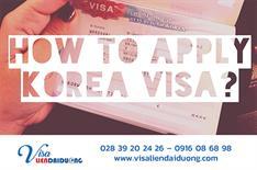 Hướng dẫn cách điền tờ khai xin visa du lịch Hàn Quốc