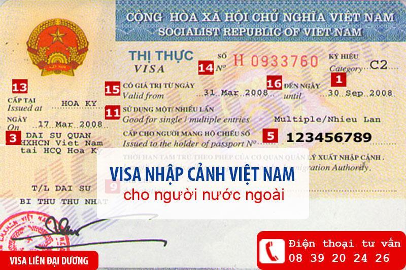 Các loại visa nhập cảnh Việt Nam cho người nước ngoài