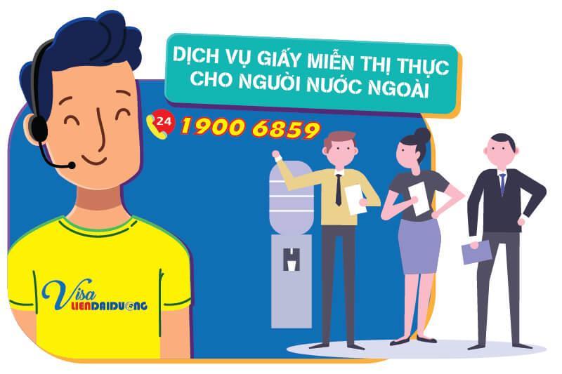 Dịch vụ làm Giấy miễn thị thực cho người nước ngoài